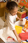Preschool ages 3-5 water table boy playing at water table vertical