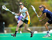 1 May 2010: University of Vermont Catamount midfielder Allison Pfohl, a Sophomore from Niskayuna, NY, in action against the University of New Hampshire Wildcats at Moulton Winder Field in Burlington, Vermont. The Lady Catamounts fell to the visiting Wildcats 18-10 in the last game of the 2010 regular season. Mandatory Photo Credit: Ed Wolfstein Photo
