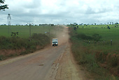 Pará State, Brazil. Altamira; the dusty road to Vitoria do Xingu.