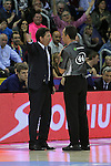 League ENDESA 2015-2016-Game: 28.<br /> FC Barcelona Lassa vs Laboral Kutxa Baskonia: 89-68.<br /> Xavi Pascual & Carlos Cortes.