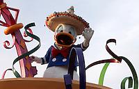 CALIFORNIA-ESTADOS UNIDOS. Parque Disney California Adventure uno de los sitios mas visitados por miles de turistas de todas partes del mundo, todas las tardes el parque presenta un desfile con todas sus estrellas. Photo: VizzorImage
