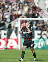 14 November 2004: Alecko Eskandarian celebrates after scoring a goal during the first half of the MLS CUP at Home Depot Center in Carson, California...Mandatory Credit: Michael Pimentel / www.internationalsportsimages.com..