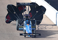 Feb 22, 2020; Chandler, AZ, USA; NHRA top fuel driver Clay Millican during qualifying for the Arizona Nationals at Wild Horse Pass Motorsports Park. Mandatory Credit: Mark J. Rebilas-USA TODAY Sports