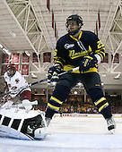 Brian Gibbons (BC - 17), Matt Moulakelis (Merrimack - 25) - The Boston College Eagles defeated the Merrimack College Warriors 4-3 on Friday, October 30, 2009, at Conte Forum in Chestnut Hill, Massachusetts.