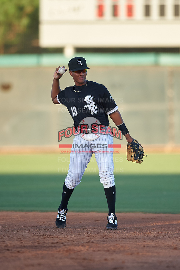 AZL White Sox second baseman Samil Polanco (13) during an Arizona League game against the AZL Indians Blue on July 2, 2019 at Camelback Ranch in Glendale, Arizona. The AZL Indians Blue defeated the AZL White Sox 10-8. (Zachary Lucy/Four Seam Images)