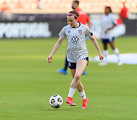 HOUSTON, TX - JUNE 10: Rose Lavelle #16 of the United States warming up before a game between Portugal and USWNT at BBVA Stadium on June 10, 2021 in Houston, Texas.