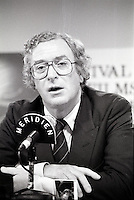 August 27, 1987 File Photo - Montreal (Qc) Canada -  actor, Michael Caine at 1987 Montreal  World Film Festival.