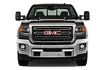 Car photography straight front view of a 2019 GMC Sierra 2500HD 2WD Crew Cab Standard Box SLT 4 Door Pick Up