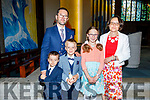 Eanjan Lange from Holy Family at her communion at St Brendans Church on Saturday standing with her family, Piotr, Adam, Zofie and Kasia Lange.