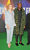 """Charlotte Ritchie and Kiell Smith-Bynoe at the 65th BFI London Film Festival """"The Phantom of the Open"""" world premiere, Royal Festival Hall, Belvedere Road, on Tuesday 12th October 2021, in London, England, UK. <br /> CAP/CAN<br /> ©CAN/Capital Pictures"""