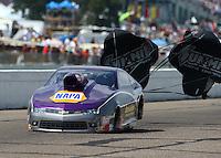 Aug 16, 2014; Brainerd, MN, USA; NHRA pro stock driver Vincent Nobile during qualifying for the Lucas Oil Nationals at Brainerd International Raceway. Mandatory Credit: Mark J. Rebilas-