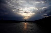 MANIZALES-COLOMBIA. 21-10-2013. Atardecer desde la facultad de Bellas Artes en la ciudad de Manizales./ Sunset from <br /> College of Fine Arts in Manizales city. Photo: VizzorImage/Santiago Osorio/STR