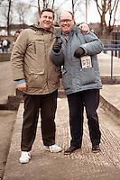 Barking fans are seen on the terracing at Mayesbrook Park - circa 1989 - MANDATORY CREDIT: Gavin Ellis/TGSPHOTO - Self billing applies where appropriate - Tel: 0845 094 6026