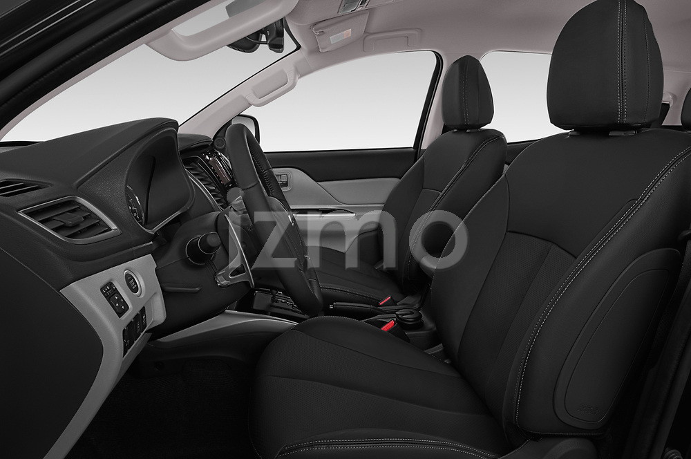 Front seat view of a 2019 Mitsubishi L200 Black Collection Plus 4 Door Pick Up front seat car photos