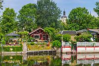 Kleingärten auf der Dominsel, Brandenburg an der Havel, Brandenburg, Deutschland