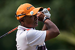 Rahil Gangjee of India in action during the Venetian Macao Open 2016 at the Macau Golf and Country Club on 16 October 2016 in Macau, China. Photo by Marcio Machado / Power Sport Images