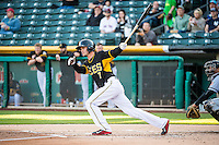 Grant Green (7) of the Salt Lake Bees at bat against the Sacramento River Cats in Pacific Coast League action at Smith's Ballpark on April 20, 2015 in Salt Lake City, Utah.  (Stephen Smith/Four Seam Images)