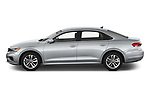 Car Driver side profile view of a 2020 Volkswagen Passat SE 4 Door Sedan Side View
