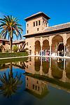 Spanien, Andalusien, Granada: Alhambra, Palacio del Partal, Ueberreste des aeltestens Teils der Alhambra | Spain, Andalusia, Granada: Alhambra, Palacio del Partal