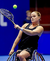 Rotterdam, Netherlands, December 13, 2017, Topsportcentrum, Ned. Loterij NK Tennis, Wheelchair, Aniek van Koot (NED)<br /> Photo: Tennisimages/Henk Koster