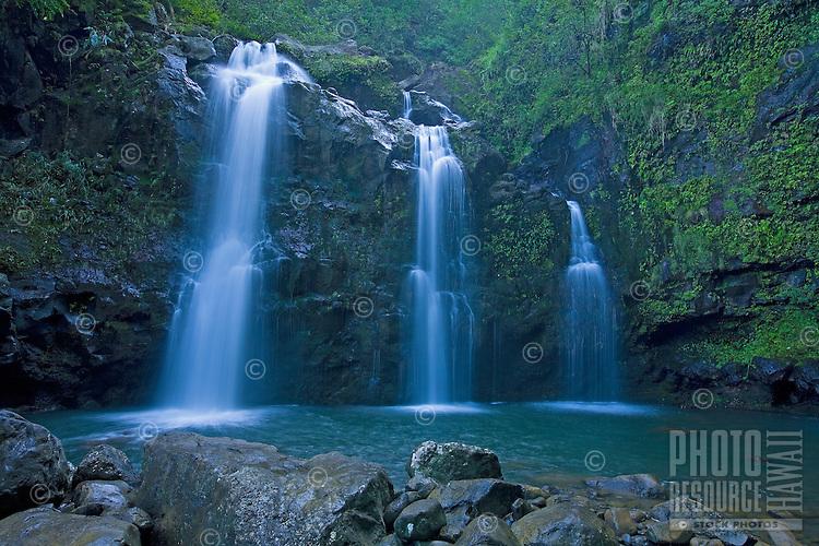 Waterfall along the road to Hana, Maui.