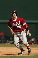 April 3 2010: Ben Clowe of the Stanford Cardinal during game against the UCLA Bruins at UCLA in Los Angeles,CA.  Photo by Larry Goren/Four Seam Images