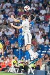 Real Madrid Gareth Bale and Getafe CF Leandro Cabrera during La Liga match between Real Madrid and Getafe CF at Santiago Bernabeu in Madrid, Spain. August 19, 2018. (ALTERPHOTOS/Borja B.Hojas)
