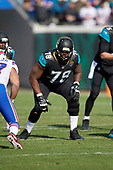 Jacksonville Jaguars Jermey Parnell (78) during an NFL Wild-Card football game against the Buffalo Bills, Sunday, January 7, 2018, in Jacksonville, Fla.  (Mike Janes Photography)