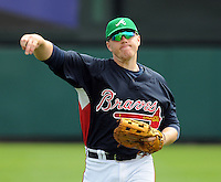 17 March 2009: Infielder Freddie Freeman of the Atlanta Braves, a spring non-roster invitee, prior to a game against the New York Mets at the Braves' Spring Training camp at Disney's Wide World of Sports in Lake Buena Vista, Fla. Photo by:  Tom Priddy/Four Seam Images