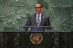 DSG meeting<br /> <br /> AM Plenary General DebateHis<br /> <br /> <br /> His Excellency Paul Kagame, President, Republic of Rwanda