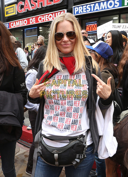 ALos Angeles CA - JANUARY 21: Kristin Bauer van Straten, At Women's March Los Angeles, At Downtown Los Angeles In California on January 21, 2017. <br /> CAP/MPI/FS<br /> ©FS/MPI/Capital Pictures