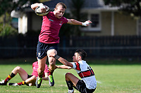 Seb Macdonald of Kings College runs with the ball during the College 1st XV Rugby - Scots College v Kings College at Scots College, Wellington, New Zealand on Saturday 8 May 2021.<br /> Copyright photo: Masanori Udagawa /  www.photosport.nz