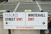 Street sign in Whitehall