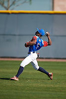 Demetrius Deramus (5) of William Penn Charter School in Philadelphia, Pennsylvania during the Baseball Factory All-America Pre-Season Tournament, powered by Under Armour, on January 13, 2018 at Sloan Park Complex in Mesa, Arizona.  (Mike Janes/Four Seam Images)