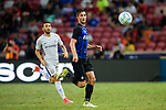 FC Internazionale Midfielder Roberto Gagliardini (R) in action during the International Champions Cup 2017 match between FC Internazionale and Chelsea FC on July 29, 2017 in Singapore. Photo by Weixiang Lim / Power Sport Images