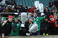 Ireland fans celebrate winning the Triple Crown and Grand Slam at the conclusion of the NatWest 6 Nations match between England and Ireland at Twickenham Stadium on Saturday 17th March 2018 (Photo by Rob Munro/Stewart Communications)