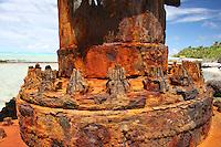 WW1 Cannon on Horsburgh Island, Cocos Keeling Islands, Indian Ocean