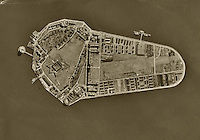 aerial photo map Governors Island, New York City, 1954