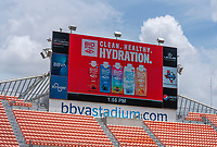 HOUSTON, TX - JUNE 10: BioSteel on the field before a game between Portugal and USWNT at BBVA Stadium on June 10, 2021 in Houston, Texas.