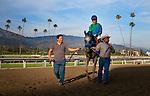 Creative Cause, with jockey Joel Rosario aboard wins the 2012 San Felipe Stakes at Santa Anita Park in Arcadia California on March 10, 2012.