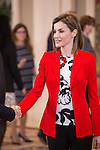 Queen Letizia of Spain attends an official meeting with Nutrition Spanish Foundation (FEN) representatives at Zarzuela Palace in Madrid, Spain. January 26, 2015. (ALTERPHOTOS/Victor Blanco)