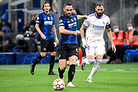 Stefan de Vrij of FC Internazionale in action during the Uefa Champions League group D football match between FC Internazionale and Real Madrid at San Siro stadium in Milano (Italy), September 15th, 2021. Photo Andrea Staccioli / Insidefoto