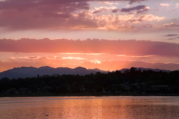 Rocky Mountain sunset,Denver, Colorado, USA John offers private photo tours of Denver, Boulder and Rocky Mountain National Park.