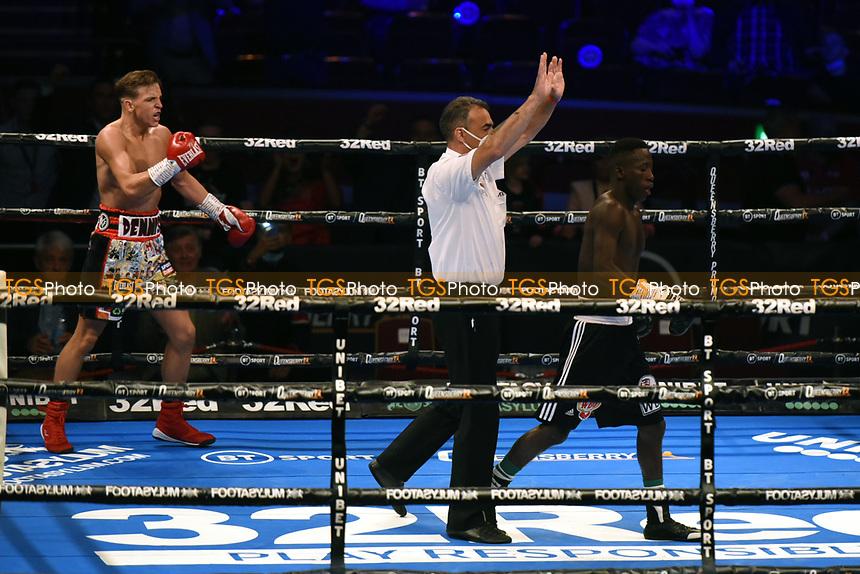 Dennis McCann defeats John Chuwa (black shorts) during a Boxing Show at the Royal Albert Hall on 10th July 2021