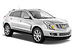 Passenger side front three quarter view of a 2013 Cadillac SRX FWD Performance Collection..