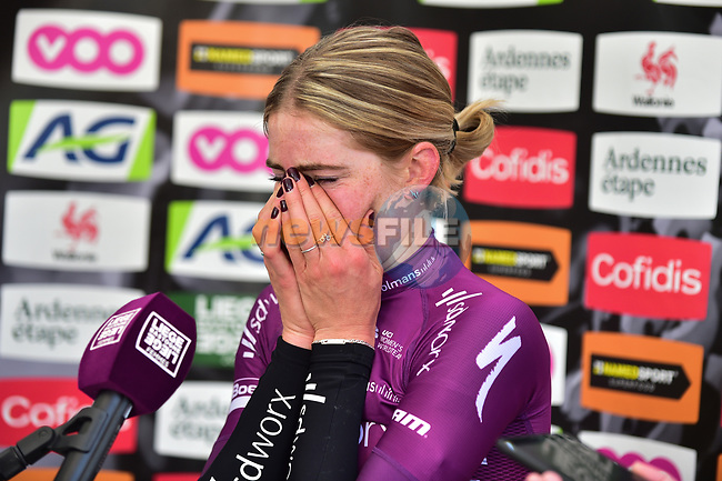 Demi Vollering (NED) Team SD Worx wins Liege-Bastogne-Liege Femmes 2021, running 141km from Bastogne to Liege, Belgium. 25th April 2021.  <br /> Picture: A.S.O./Gautier Demouveaux | Cyclefile<br /> <br /> All photos usage must carry mandatory copyright credit (© Cyclefile | A.S.O./Gautier Demouveaux)