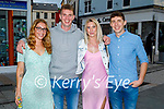 Out and about in Tralee on Saturday evening, l to r: Charlene Scott, Kieran Hurley (Curraheen), Megan O'Connell and Denis O'Neill (Ballyard)