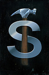 Illustrative image of dollar sign with hammer representing fraud