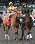Aoril 11, 2014: Wise Dan and jockey John Velazquez win the G1 Maker's 46 Mile at Keeneland for trainer Charles LoPresti and owner Morton Fink.Jessica Morgan/ESW/CSM
