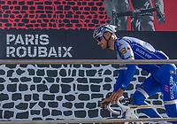 Tom Boonen (BEL/Quick Step Floors) at the start in Compiègne.  Ready to race one final time!<br /> <br /> 115th Paris-Roubaix 2017 (1.UWT)<br /> One day race: Compiègne > Roubaix (257km)115th Paris-